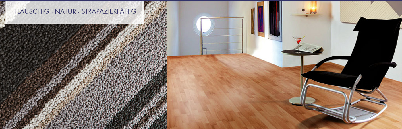 Teppichböden, Laminat, Kork, Parkett