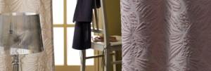 Gardinen in modernen Dessins, eklusiven Materialien
