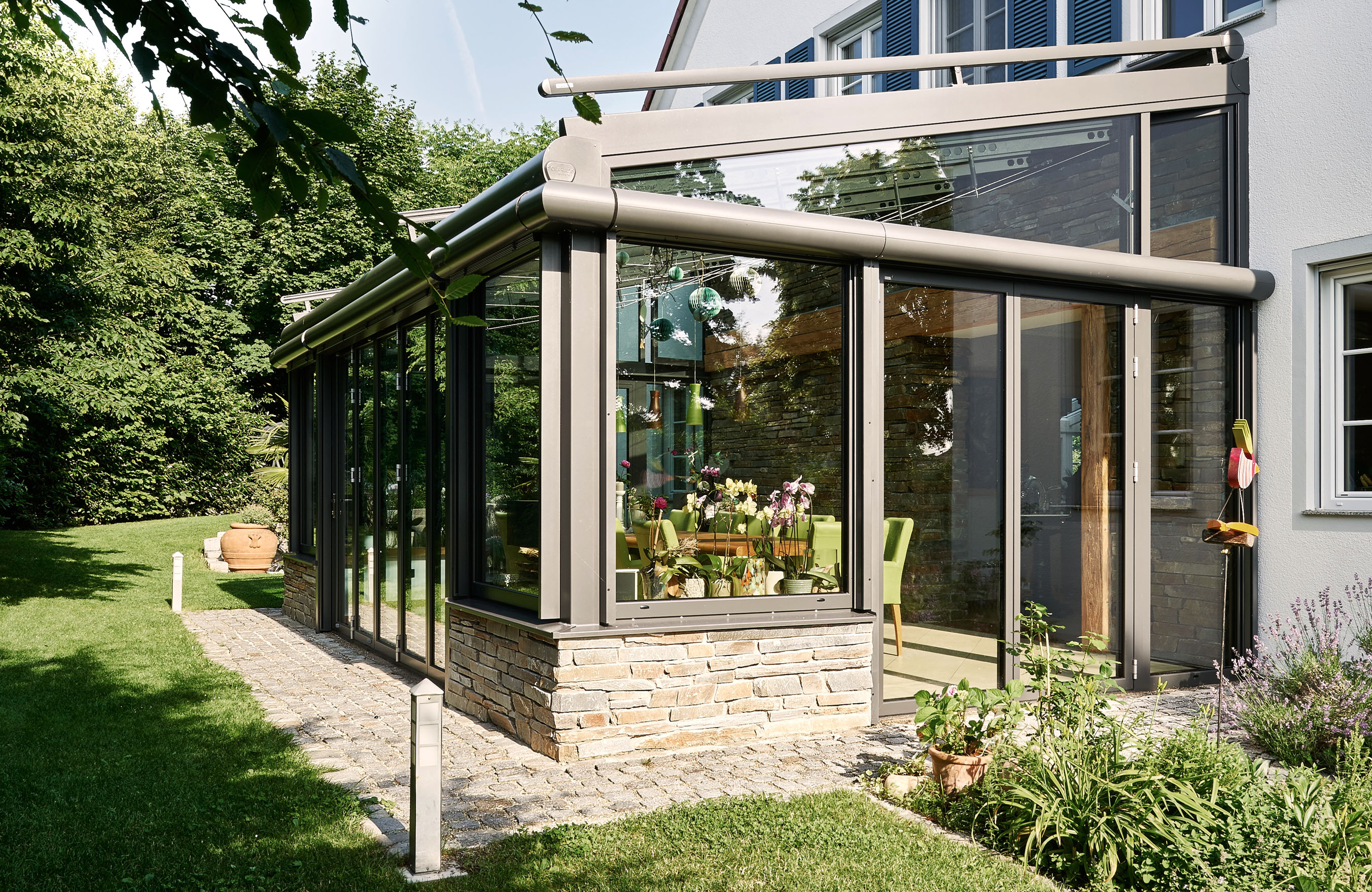 Solarlux Wintergarten Faltturen Schiebeturen