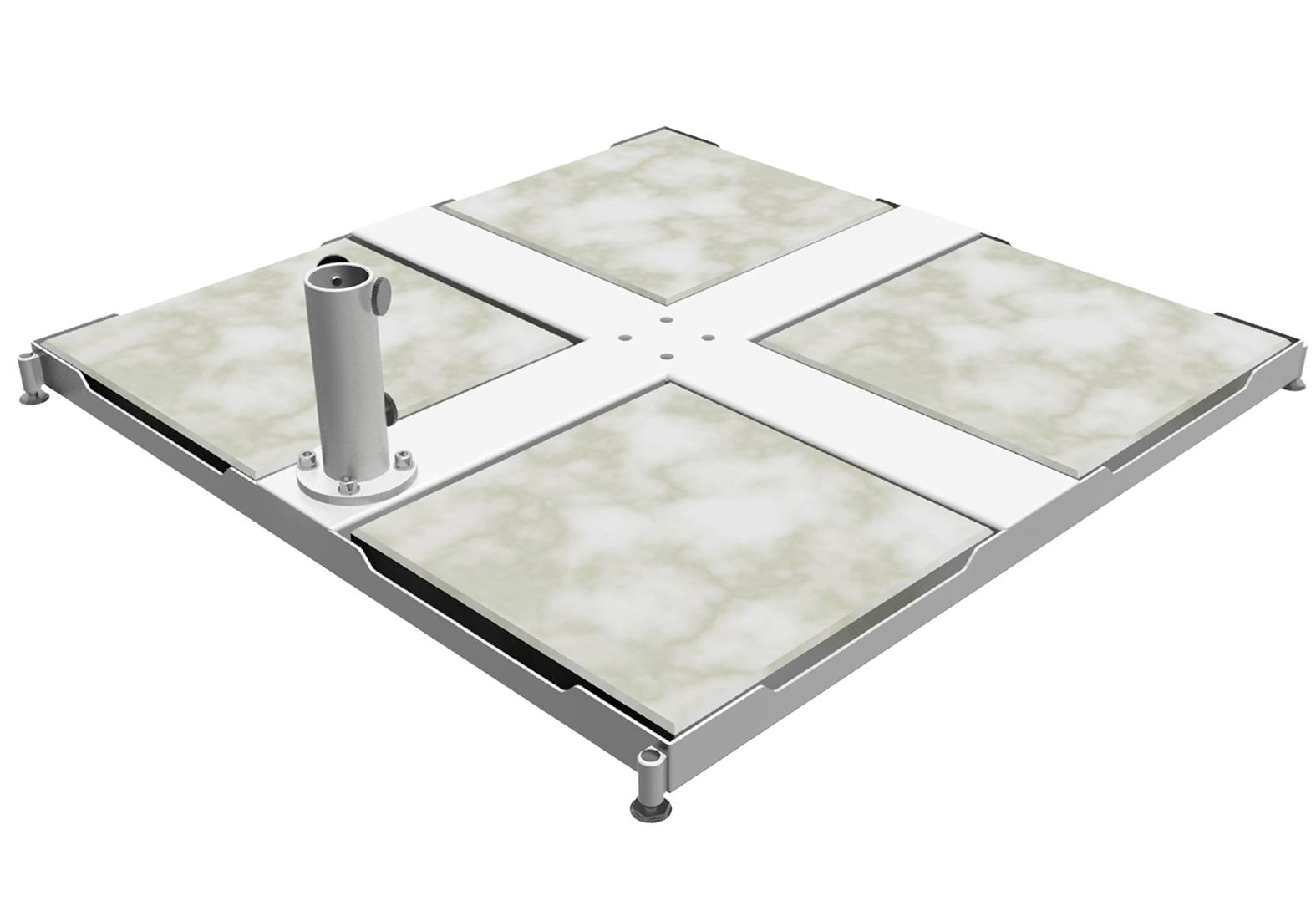 Caravita Schirmstaender Standfuss aus pulverbeschichtetem Stahl mit seitlich montiertem Aufsatzrohr