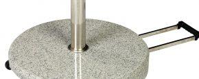 Schirmstaender Standfuss fuer sonnenschirme Granit mit Griffmulden